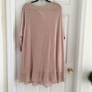 LOGO by Lori Goldstein Tops - NWOT Logo Lori Goldstein tunic dress - mauve 3X